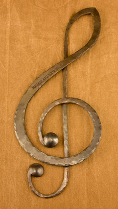 treble clef in wrought iron