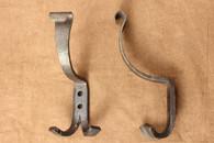 wrought iron double coat & hat hooks