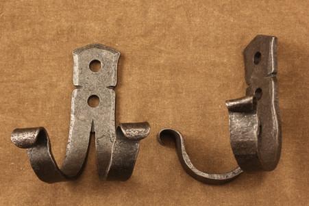 wrought iron double coat hook