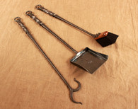 wrought iron fireplace tools