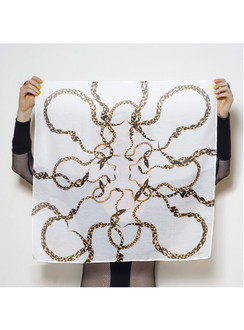 Snakechain silk cotton scarf