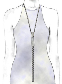 Silver Bullet Zip-IT necklace