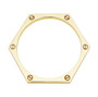 Hexagon Bangle in gold-plate