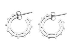 Sundial Hoop Earring in solid sterling silver