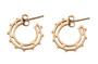 Sundial Hoop Earring in gold-plated brass