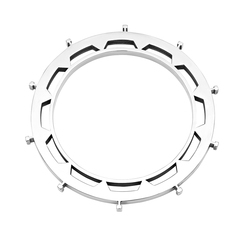Kogg Bangle in silver plate brass