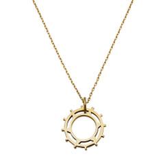 Sundial Pendant in gold plate