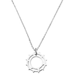 Sundial Pendant Necklace in solid sterling .925 silver