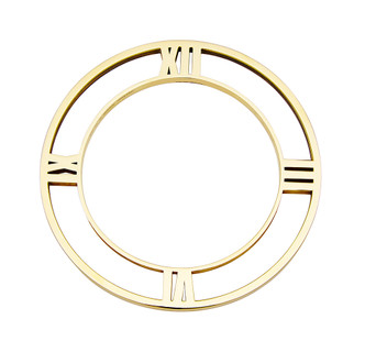Roman Numeral Bangle in gold-plate
