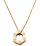 Hex Pendant (gold plated brass pendant and chain)