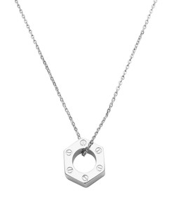 Hex Pendant (solid sterling silver pendant and chain)