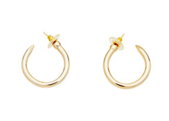 Nail Hoop Earrings