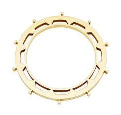 Kogg Bangle in gold plate brass