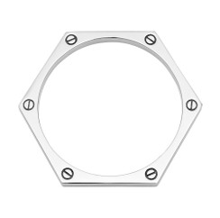 Hexagon Bangle in silver-plate