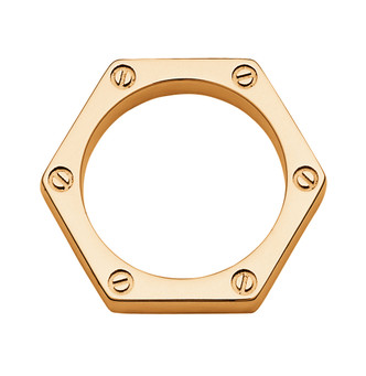 Gold dipped Hex Ring