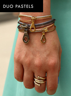 Duo Pastel zip bracelets