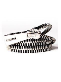 Silver Zip-IT wrap around bracelet
