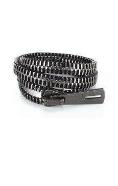 Dark Silver wrap around Zip-IT bracelet
