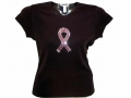 Pink Ribbon Bling Rhinestone Shirts