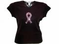 Pink Ribbon Bling Rhinestone Shirts