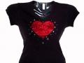 Valentine's Day Swarovski Bling Shirts