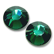 10ss Emerald Green Genuine Swarovski HotFix 2028 Xilion Crystals 10 Gross Sealed Package Wholesale