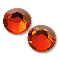 10ss Hyacinth (Orange) Genuine Swarovski HotFix 2028 Xilion Crystals 10 Gross Sealed Package Wholesale