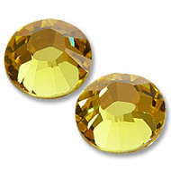 10ss Light Topaz (Yellow) Genuine Swarovski HotFix 2028 Xilion Crystals 10 Gross Sealed Package Wholesale