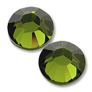 10ss Olivine Genuine Swarovski HotFix 2028 Xilion Crystals 10 Gross Sealed Package Wholesale