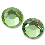 10ss Peridot Genuine Swarovski HotFix 2028 Xilion Crystals 10 Gross Sealed Package Wholesale