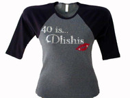 40 IS Dlishes Swarovski Crystal Rhinestone T Shirt