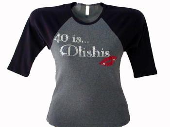 40 IS Dlishes Swarovski Crystal Rhinestone T Shirt