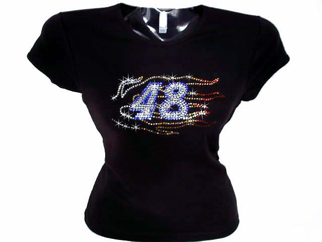 Jimmie johnson 48 nascar swarovski crystal rhinestone t shirt for Swarovski crystal t shirts