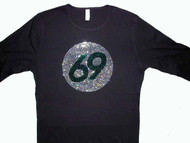 Swarovski Crystal Rhinestone Birthday or Sports Team Player Number T Shirt