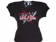 AC/DC sparkly rhinestone concert shirt