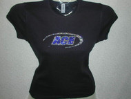 Ace Custom Business Logo Swarovski Crystal T Shirt