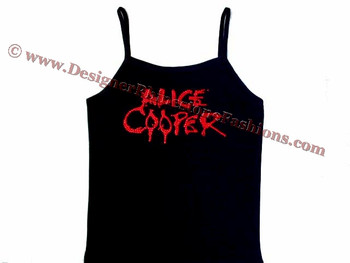 Alice Cooper sparkly rhinestone concert tank top