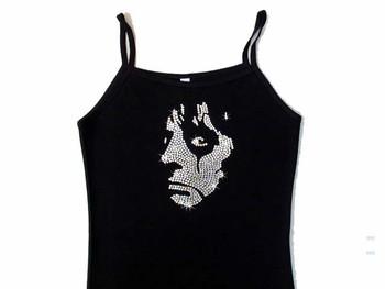 Alice Cooper rhinestone concert tank top t shirt