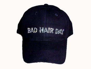 bad hair day swarovski crystal rhinestone hat cap