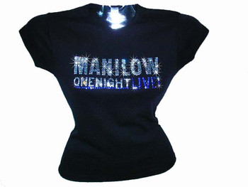 Barry Manilow Rhinestone Swarovski shirt