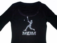 Bling Baseball Mom Swarovski Crystal Rhinestone T Shirt