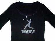 Bling Baseball Mom Swarovski Crystal Rhinestone T Shirt