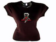 Betty Boop Swarovski Crystal Rhinestone T Shirt