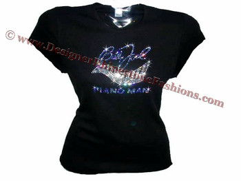 Billy joel piano man swarovski crystal rhinestone concert for Swarovski crystal t shirts