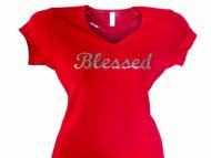 Blessed Swarovski Rhinestone Bling T Shirt