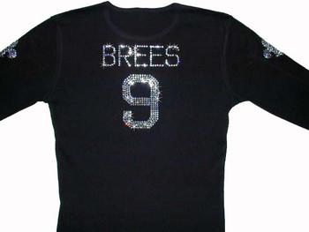 Drew Brees Rhinestone Football Jersey T Shirt
