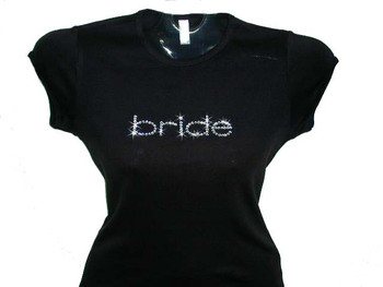 Bride Swarovski crystal rhinestone t shirt