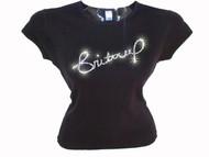 Britney Spears Signature Swarovski Rhinestone Concert T Shirt Top