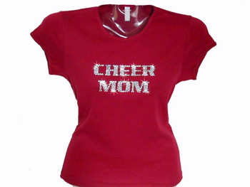 Cheer Mom Swarovski rhinestone t shirt
