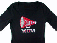 Cheer Mom Swarovski rhinestone shirt